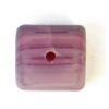 Glass Pressed Beads 8X10mm Cubes Dark Violet Matt